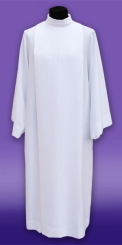 12.3/01/S  Plain white alb for priest – style 01