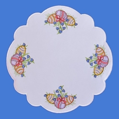 K02/27  Embroidered Easter doily