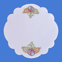 K01/27  Embroidered Easter doily