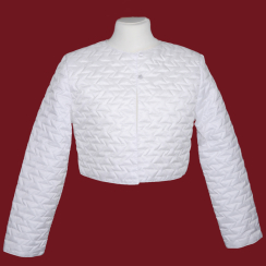 16K040/CH  Quilted white communion jacket